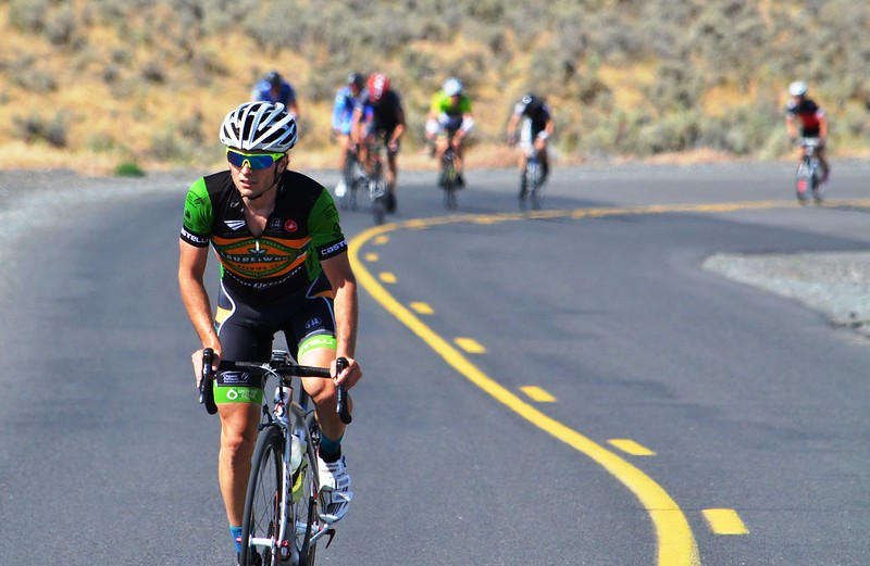 Racing the back roads of Baker City during the Baker City Cycling Classic