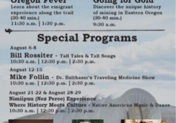 August outdoor programing at Oregon Trail Interpretive Center